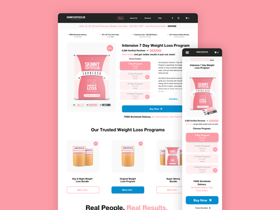 Skinny Coffee Club Expresso Product Page Redesign illustration app branding ui animation design