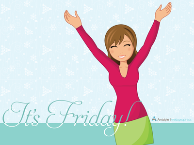 It's Friday! graphics character design vector stock
