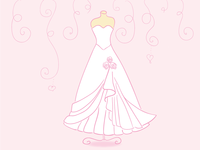 Graphics for a Wedding Dress Designer