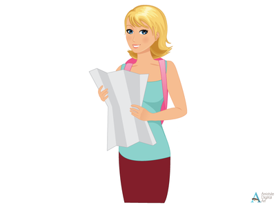 Travelling Woman Character Designs 2. character design avatar profile illustration vector art