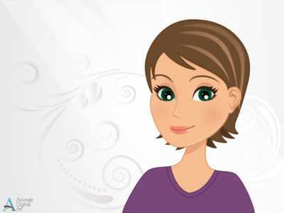 Graphic Character with Swirls character design avatar profile illustration vector art