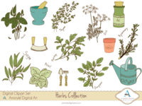 Herbs Collection Cliparts