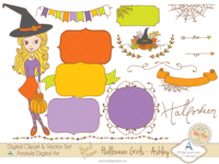 Halloween girl - Ashley - Clipart & Vector Sets