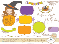 Halloween girl - Angie - Clipart & Vector Sets