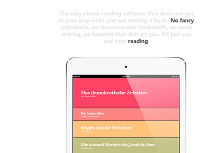 Ereader2 app ipad ios reader ebook epub pdf