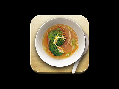 Soup iphone icon soup