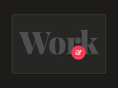 Personal Portfolio - Work playfair display editorial ui personal portfolio minimal web design