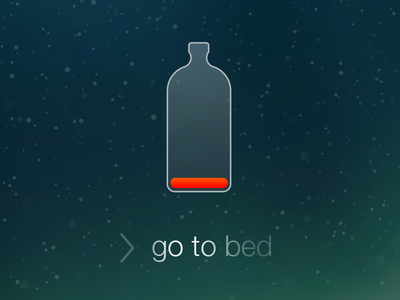 Go To Bed lock screen ios battery drunk