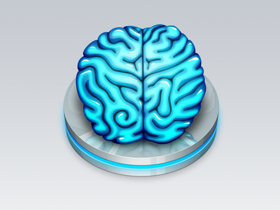 Brain Icon mac os x application icon brain platter blue glow