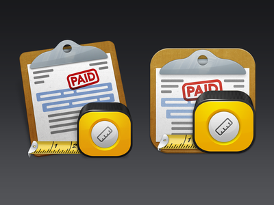 Construction Icons for Mac and iOS construction cost estimator measuring tape clipboard invoice icon mac os x ios iphone ipad