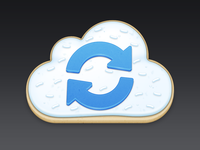 Cloud Sync Cookie Icon