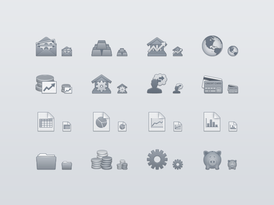 Finance Toolbar Icons mac os x toolbar icon finance bank money investment growth graph piggy bank