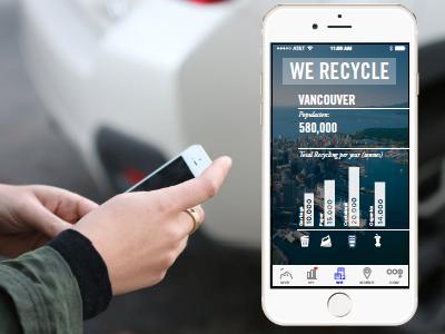 We Recycle app screen ios app ui