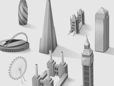 London Landmark Icons london icon icons map ux ui web website homes navigation property
