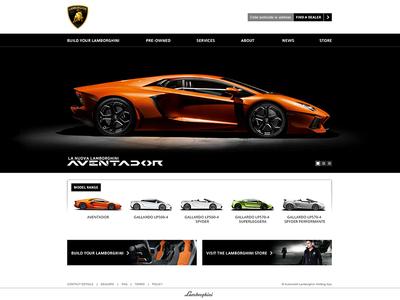 Lamborghini site concept ux lamborghini auto cars motors ui website web design