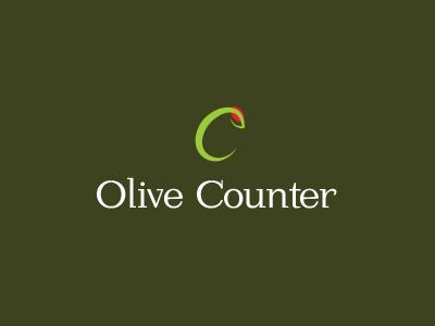 Olive Counter Logo logo design vector deli olives brand icon food
