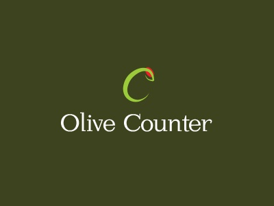 Olive Counter Logo logo design vector deli olives brand icon food