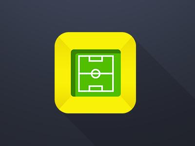 Football Stadium App Icon sports betting football flat ux ui app iphone ipad design