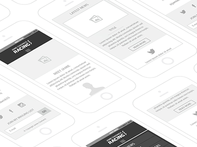 Mobile Site Wireframe wireframe ui ux responsive website mobile mobile site responsive site