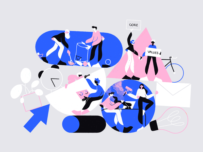 Facebook art direction art drawing 2d article editorial illustration people editorial facebook illustration character