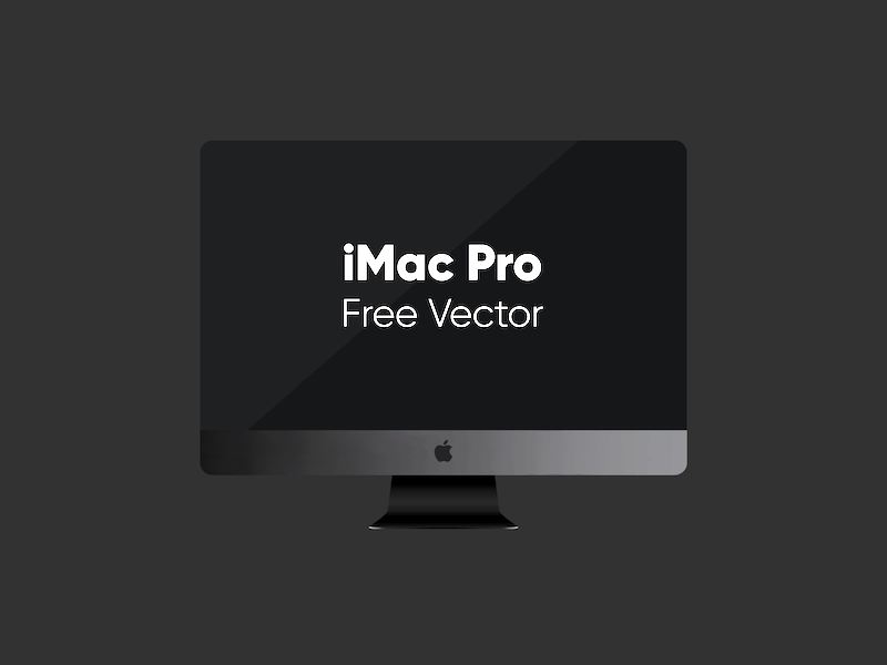 Download iMac Pro Vector Freebie