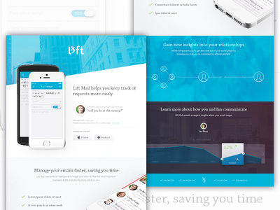 Lift Mail lift mail email app landing page home page page landing site