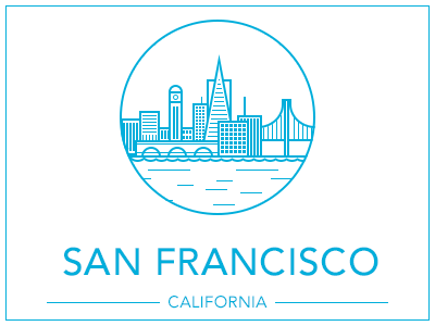 San Francisco san francisco sf san francisco sketch illustration drawing city california
