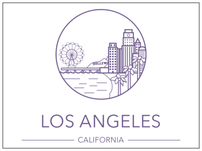 Los Angeles los angeles illustration drawing sketch city line art california