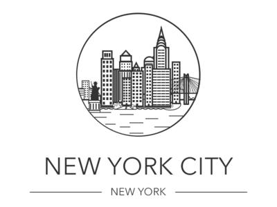 New York City new york new york illustration drawing sketch city line art nyc ny