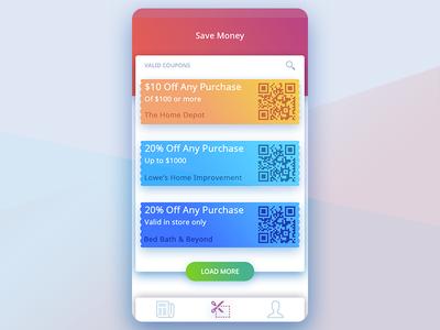 Save money colorful mobile store retail savings list coupon money save