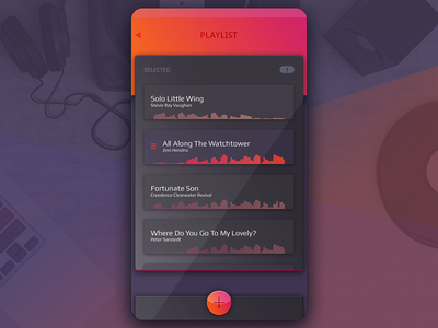 Playlist media songs music embed audio tracklist manage tracks playlist player peach