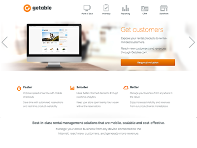 Getable for Business getable work web design landing page web css3