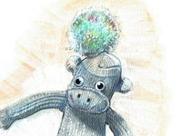 Sock Monkey with a Bobble Hat 2