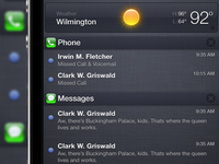 iOS Notification Center Pulldown