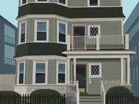 138 Davis house illustration