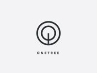 one tree logo concept