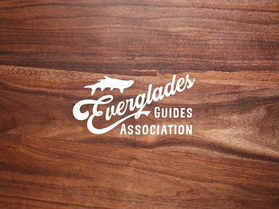 Everglades Guide Association vector lettering branding typography logo design