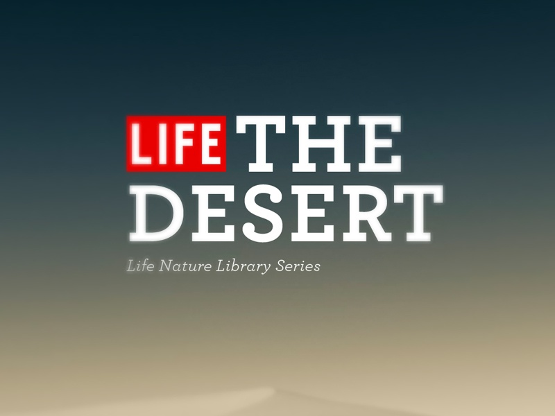 Life-The Desert book cover typography red archer gradient
