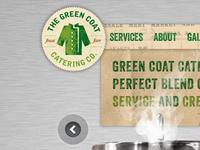 Green Coat Catering Website