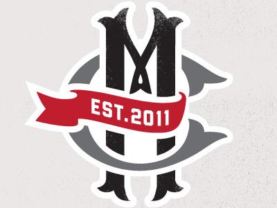 Cafe Moto Monogram logo monogram cafe-moto cafe racer red
