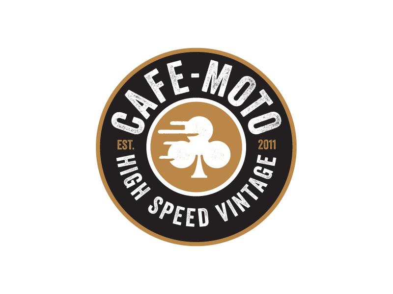 Cafe-Moto Patch patch logo grunge vintage motorcycle