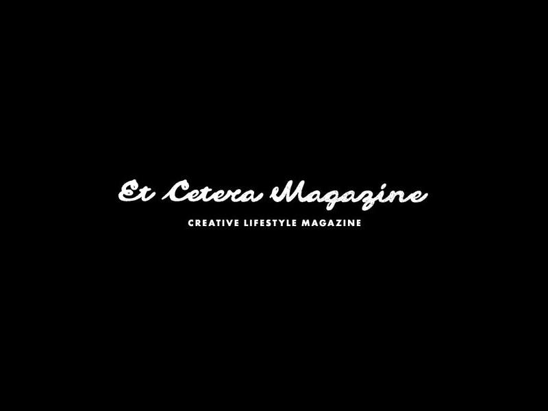 Et Cetera Magazine logo magazine script handmade typography brushed grunge san serif lettering caligraphy