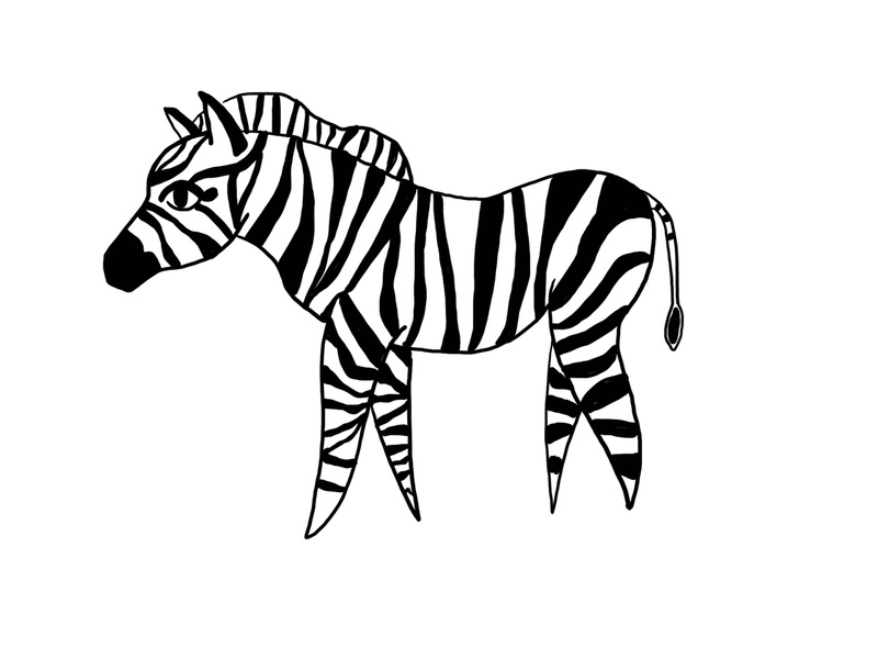 ❤️ Zebra editorial illustration book illustration article book art lifestyle magazine illustraion