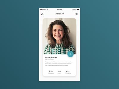 Daily UI #6: User Profile