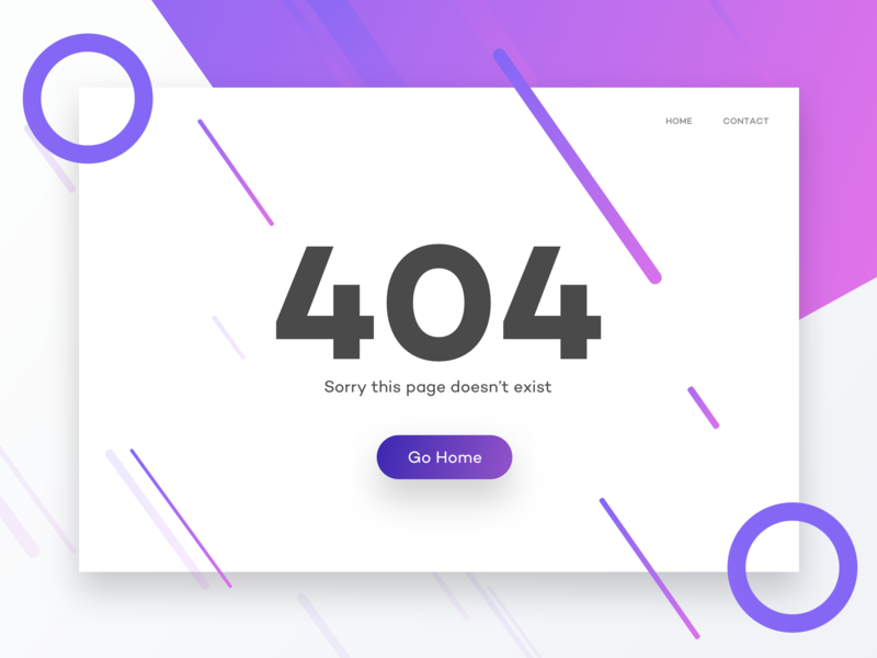 Daily UI #8: 404 page daily 404 page visual design interface design dailyui008 dailyui 008 ui user interface