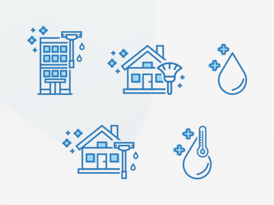 Icons for Exterior Cleaning Company