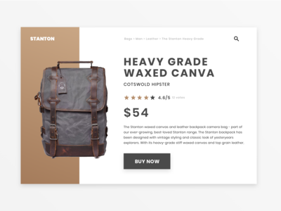 Daily UI #12: Single Product