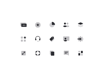 Icon Set – Alloy symbols icon system glyphs duo-tone minimal simple iconography icon set icon design icon icons