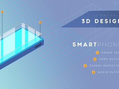 Smartphone 3D Isometric Design