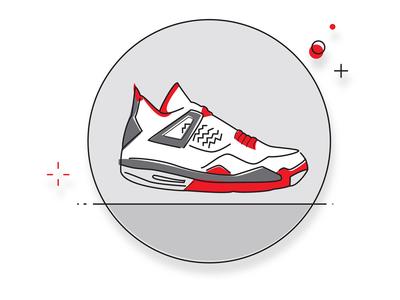 Jordan Retro 4 Line Icon